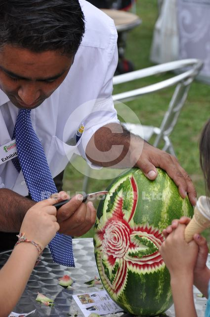 Roundhay park more melon carving photographs of