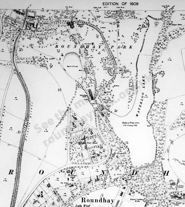 Old map of Roundhay Park