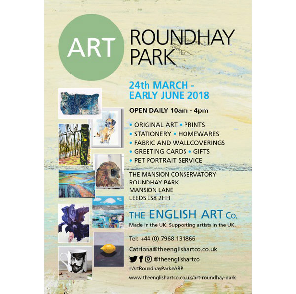 Art in Roundhay Park at the Mansion from 24th March 2018 - daily 10am to 4pm