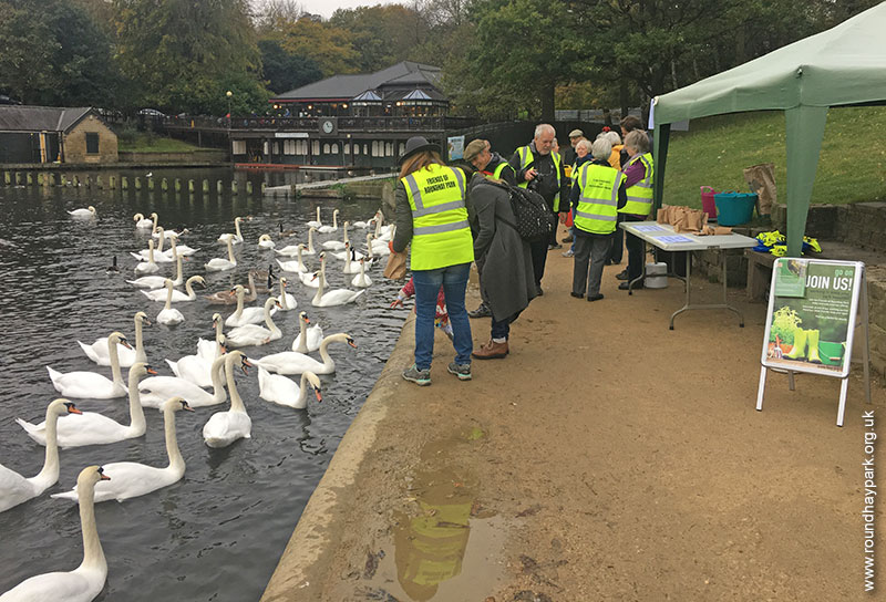 Forp feeding the birds at Roundhay Park Leeds