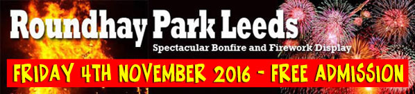 Fireworks and Bonfire at Roundhay Park Leeds 2016