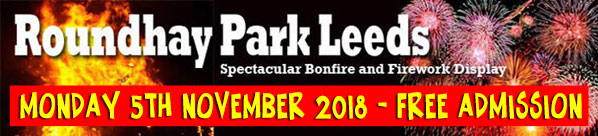 Roundhay Fireworks and Bonfire 2018
